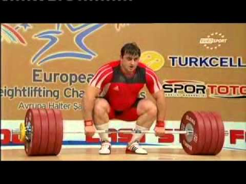 2012 European Weightlifting +105 Kg Clean and Jerk