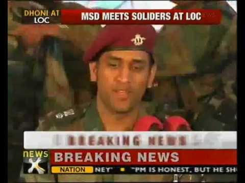 MS Dhoni visits soldiers in Kashmir, desires to serve Army after Cricket