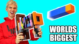 WORLDS BIGGEST LEGO NERF GUN!!