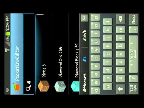 how to edit your inventory in mcpe