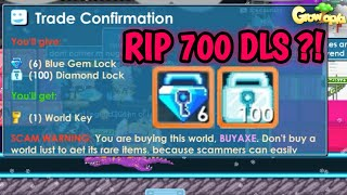 "BUYING WORLD ""BUYAXE"" FOR 700 DLS ?! GOT SCAMMED ?! GROWTOPIA"