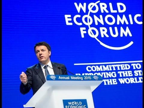 Renzi interviene al World Economic Forum