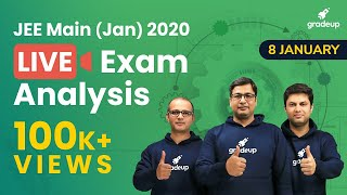 🔴JEE Main 2020 Paper Analysis (8th Jan, Shift 1) by Top Faculties: JEE Main Question Paper 2020