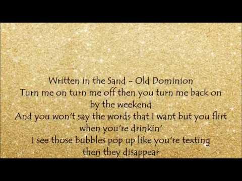 Written in the Sand - Old Dominion Lyrics