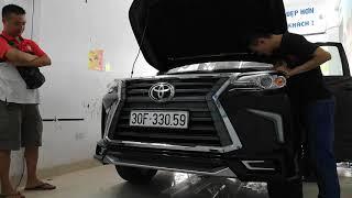Liên hệ 0986921273 độ xe fortuner giống lexus, thay mặt calang xe fortuner giống lexus