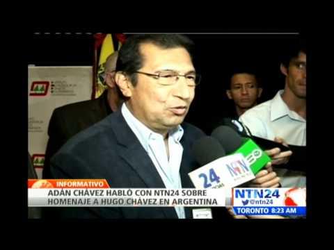 Adan Chávez habla en NTN24 sobre homenaje al legado político de Hugo Chávez en Argentina