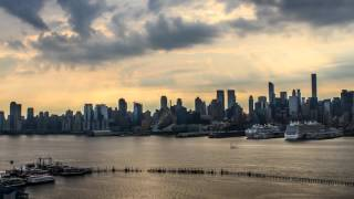 4K Time lapse video of New York City -from Sunrise to Sunset