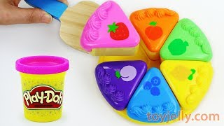 How to Make Play Doh Color Fruits Cakes Velcro Cutting Playset Microwave Oven Kids Toy Appliance