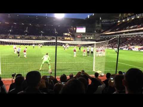Yohan Cabaye free kick Vs West Ham (slow-mo)