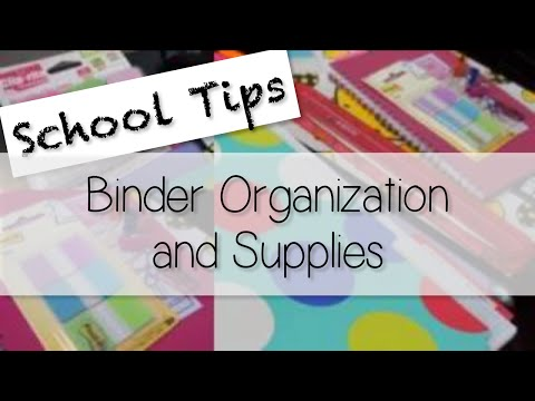 Organizing Binder, Notes, & Planner - School Tips