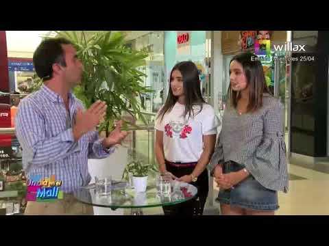 Valeria Florez Junto a Andrea Arana en El Mall