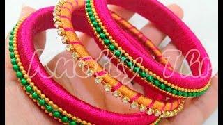 How to make Silk Thread Bangle - Design 4