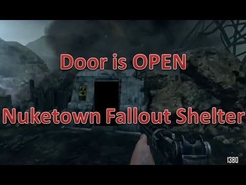Nuketown Zombies Fallout Shelter Easter Egg!! Door is Open?!?!