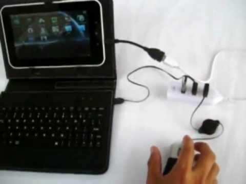 Cómo conectar mouse. teclado y memoria usb a una tablet