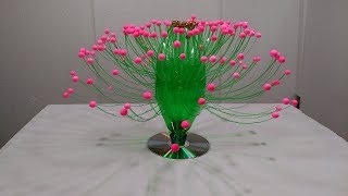 Empty Plastic Bottle Vase Making Craft, Water Bottle Recycle Flower Vase Art Decoration Idea