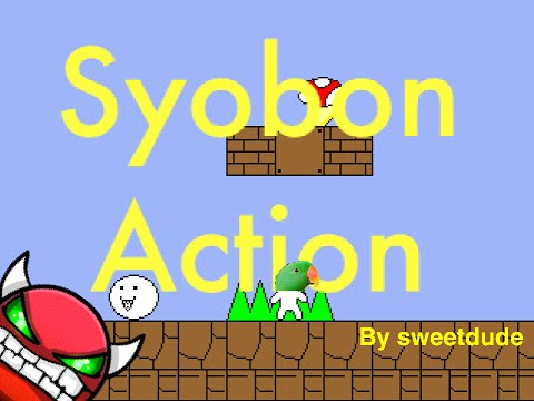 CAT MARIO IN GD?! Syobon Action very easy demon by sweetdude