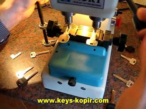 cтанок KURT PN80 для изготовления вертикальных ключей