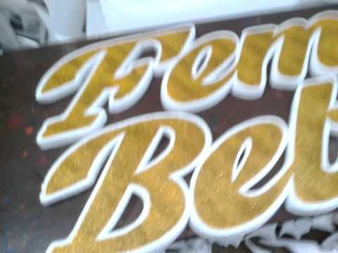 thermocol craft * art * carving*  ideas* tiger letter cutting