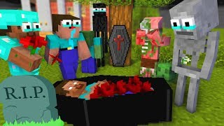 Monster School: RIP HEROBRINE Challenge - Minecraft Animation