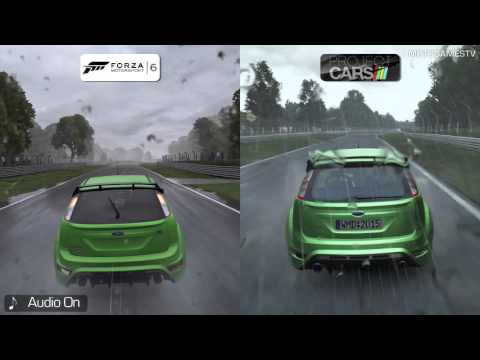 Forza Motorsport 6 vs Project CARS - Rain Effects Comparison