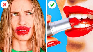 GENIUS BEAUTY HACKS TO SPEED UP DAILY ROUTINE|| Funny Girly Tricks by 123 GO! GOLD