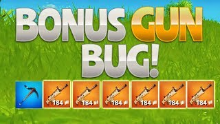 BONUS GUN BUG! (Fortnite Battle Royale)