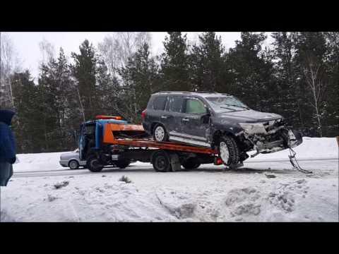 ДТП на Колыванском шоссе - Крузак улетел в лес 20.02.2017