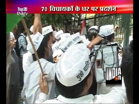 AAP stages protest against water scarcity in Delhi