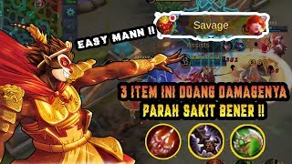 SUN Build Item Tersakit, Parah Damagenya Overpower Banget Dikeroyok Susah MATI !! - Mobile Legend