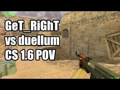 POV: GeT_RiGhT vs. duellum @GAMEGUNE fnatic CS 1.6 Demo