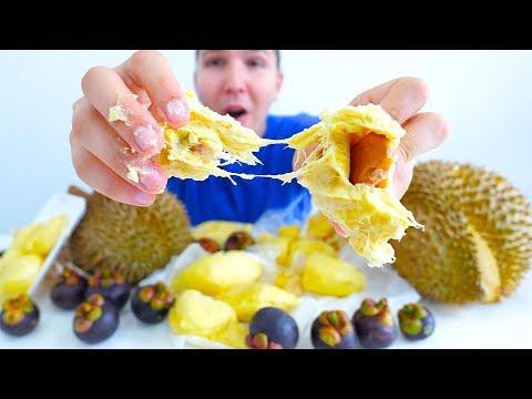 Durian & Mangosteen • MUKBANG
