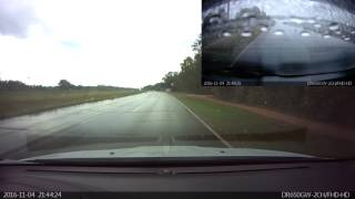 Car Crashed Hydroplaned Flipped Roll-Over Accident BlackVue DR650GW-2CH Dash Cam