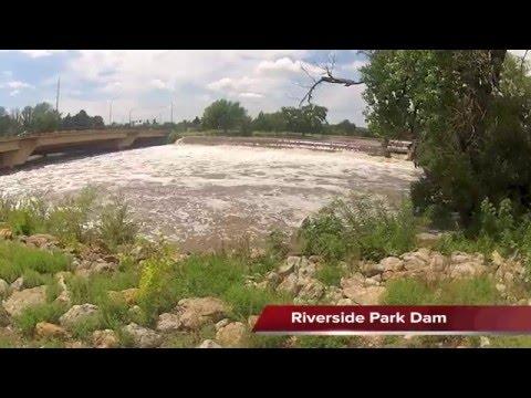 High Water Arkansas River Wichita, Kansas Aug 8, 2013