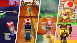 Evolution of Toad & Mushroom Courses in Mario Kart Games (1996 - 2018)