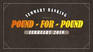 Summary ranking P4P February, 2019