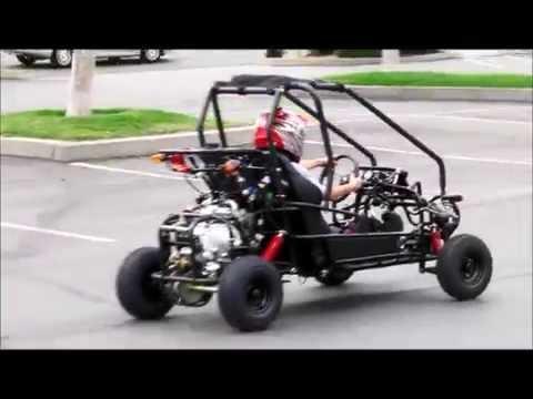 7 yr old test drives a 110cc go kart KD-GK110G (aka TAO TAO GK110)