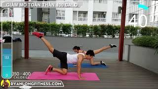 Bài Tập Giảm Mỡ 400 Calories Tại Nhà Cho Nữ - Full Body Workout | HLV Ryan Long Fitness
