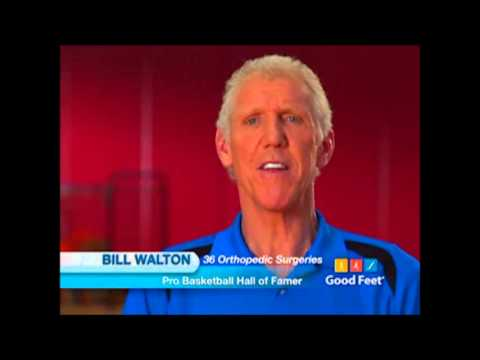 Plantar fasciitis foot pain Palm Desert Good Feet arch supports Bill Walton back Pain Relief