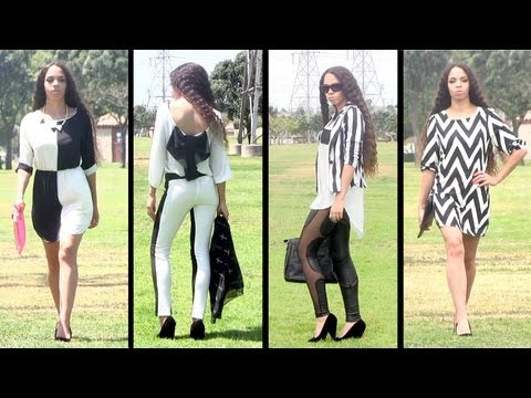 14 Spring / Summer Fashion Outfits: Black & White Trend!
