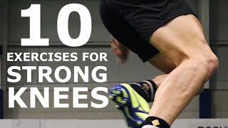 10 Knee/Leg Strengthening Exercises | At Home Workout For Building Strong Leg Muscles