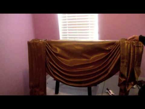 Parte final como hacer una cortina drapeada o cenefa, como instalar la cortina.