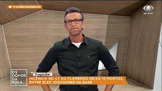 Neto se emociona ao falar de incêndio no C.T do Flamengo