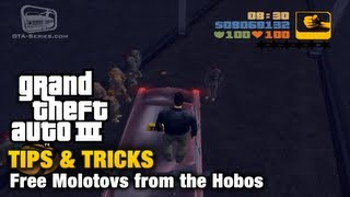 GTA 3 - Tips & Tricks - Free Molotovs from the Hobos