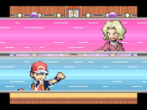 Pokémon FireRed - Elite Four Agatha battle