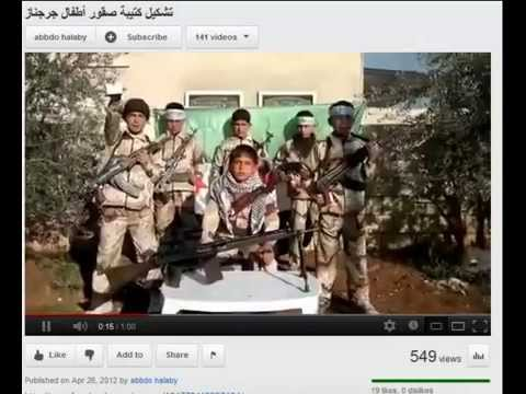 """Free"" ""Syrian"" ""Army"" (FSA) recruit Child Soldiers while they Hide under Sheets. Where's the UN?"