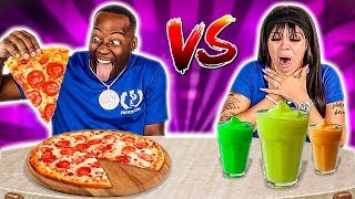 REAL FOOD VS SMOOTHIE FOOD CHALLENGE