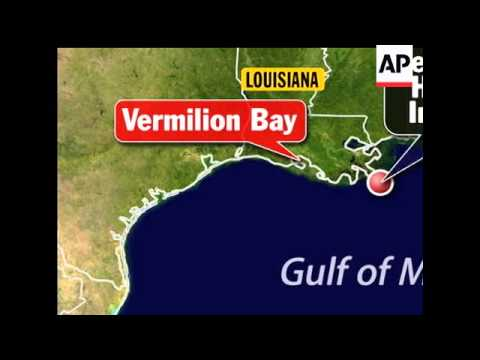 An offshore oil rig exploded in the Gulf of Mexico on Thursday, west of the site of the April blast