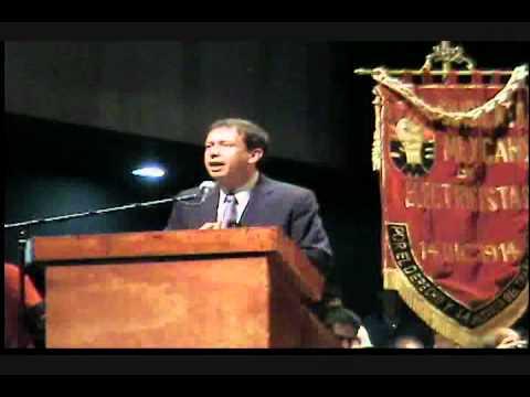 Carlos Moreira Srio. Gral. secc 38 del cnte en la toma de protesta de Martín Esparza