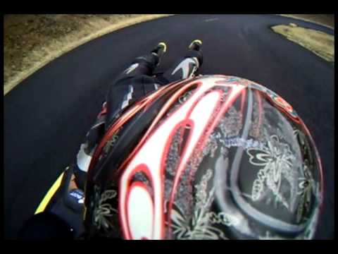 POV Street Luge run at Mary Hill, Sept 2009. Goldendale, Washington.