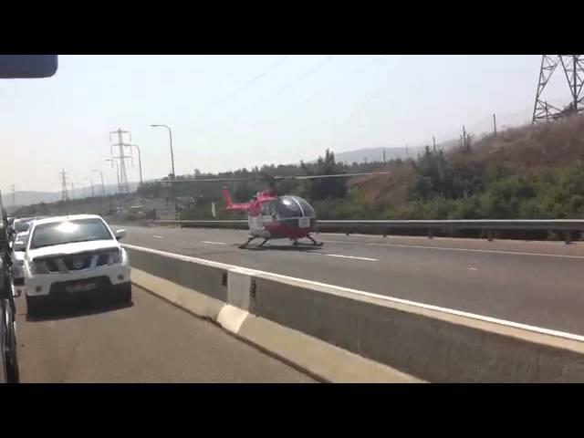 בת 20 פונתה במסוק לאחר שנפצעה קשה בתאונה בכביש 77